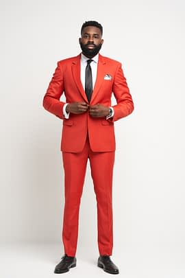 Oxford Red Suit